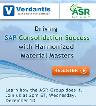 Driving SAP Consolidation Success with Harmonized Material Masters